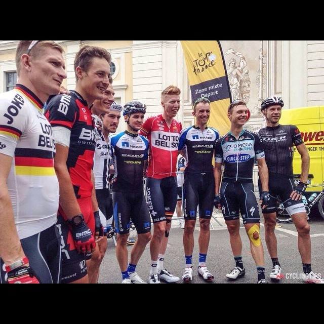 All German Tour starters together at the start of Stage 18th in Pau. Roger Kluge isn't on the pic because he was too late...like always!;-)