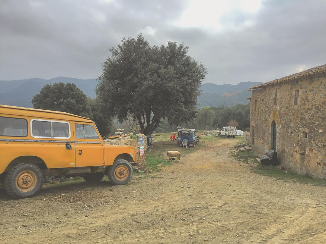 Today. In the middle of nowhere. 20min away from the next asphalt road, I found a house with three old Land Rover's in the backyard